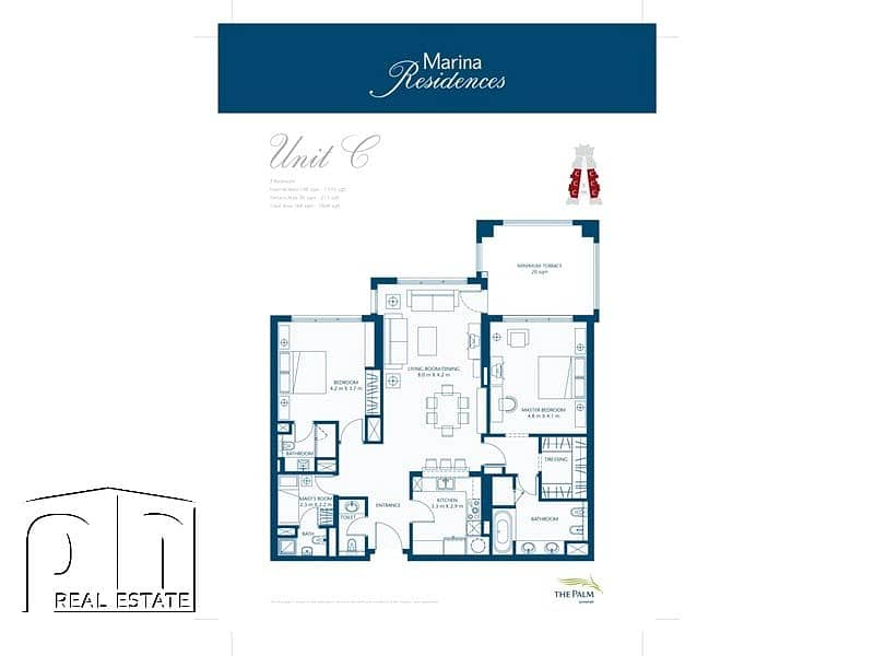9 Ground Level | Pool and Marina View | Extended Terrace