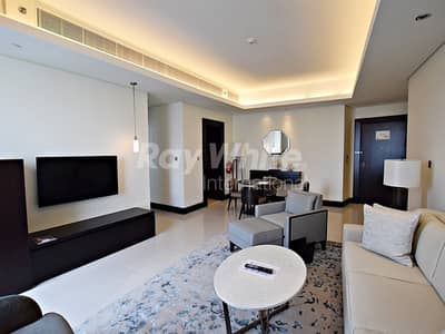 1 Bedroom Hotel Apartment for Sale in Downtown Dubai, Dubai - Fountain View Luxury Serviced Apartment w/ Balcony