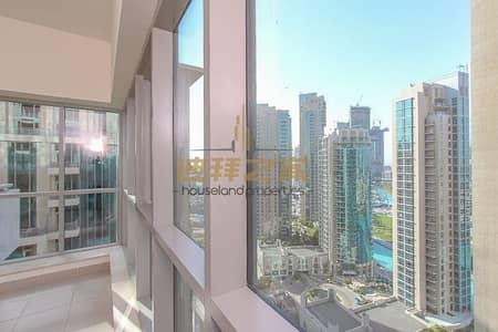 فلیٹ 2 غرفة نوم للايجار في وسط مدينة دبي، دبي - spacious 2BR High Floor with Burj Khalifa View