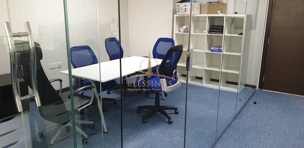 مکتب  للايجار في الخليج التجاري، دبي - Furnished Office with Glass Partitions
