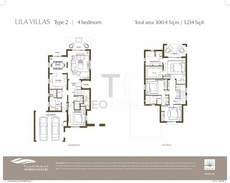 20 Exclusive | Type 2 | 4Bed+Maid | 3234BUA