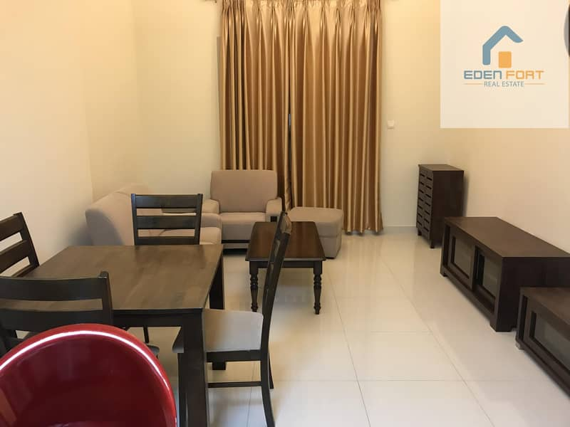 Spacious fully furnished one bedroom flat