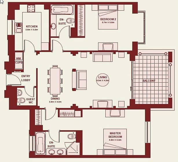 10 2 Bedrooms | Fully Furnished | Upgraded