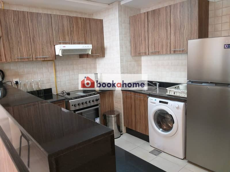 2 Spacious 1BHK Newly furnished apartment with balcony