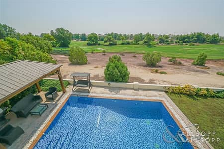 6 Bedroom Villa for Sale in Jumeirah Golf Estate, Dubai - One Of A Kind | Golf Course View Mansion