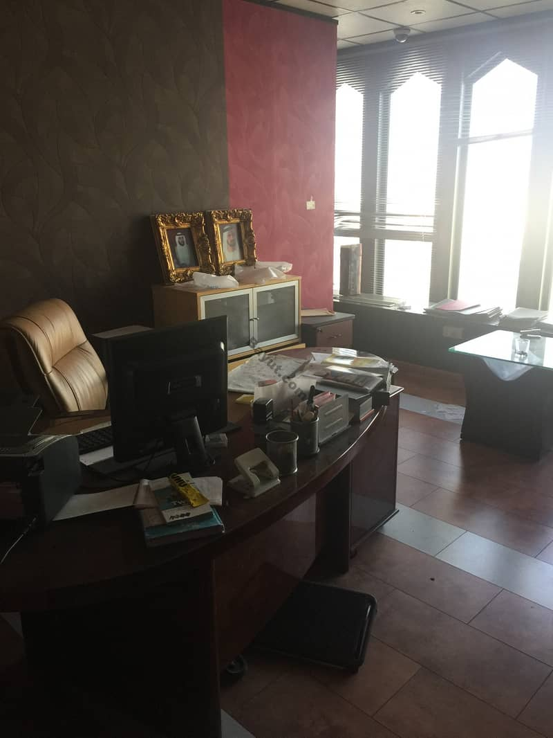 1 MONTH FREE!! CHILLER FREE!! FULLY FURNIHSED OFFICE READY TO MOVE WITH BEST VIEW IN AL RIGGA, DEIRA