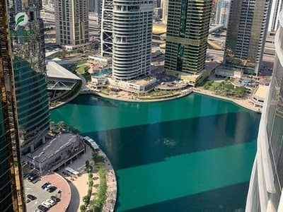 1 Bedroom Apartment for Rent in Jumeirah Lake Towers (JLT), Dubai - Chiller Free 1 Bedroom with Lake View Semi Furnished