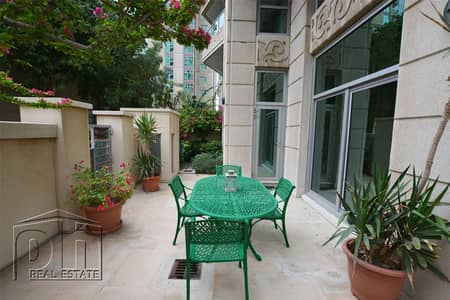 2 Bedroom Apartment for Rent in Dubai Marina, Dubai - Stunning Private Garden - Semi Furnished - 2bed+S