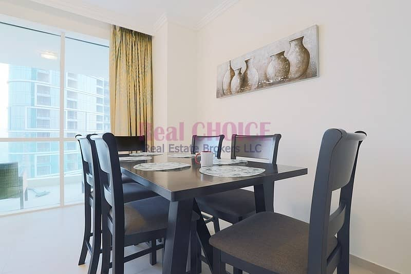 25 High Floor|2BR+Maid Fully Furnished Apartment