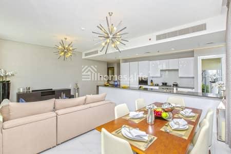 فلیٹ 4 غرفة نوم للبيع في مدينة محمد بن راشد، دبي - Customized Furnished 4BR + M| Lagoon View