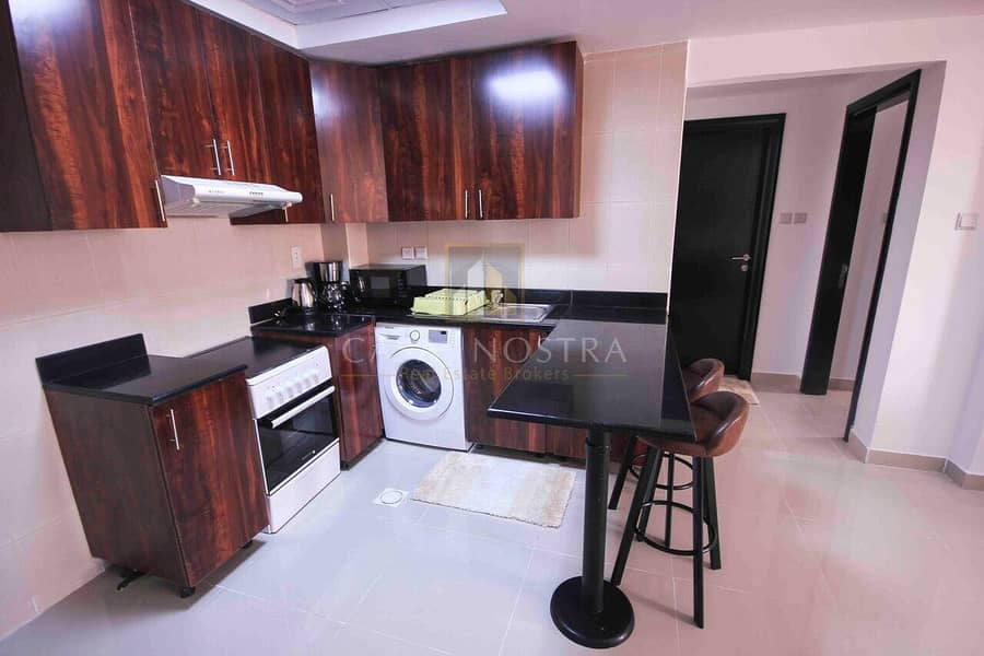 2 Payment in 12 Chqs Furnished 1BR on Higher Floor