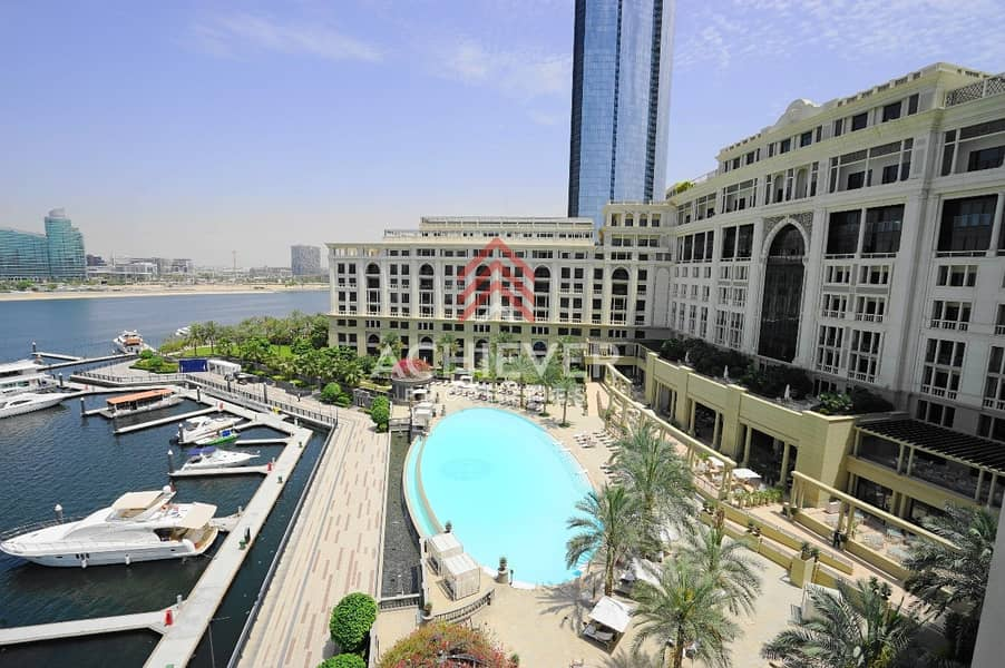 Spacious 2 Bed with Dubai Creek and Pool Views.