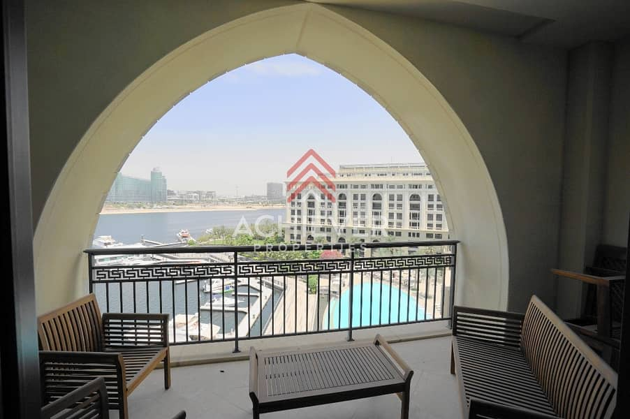 2 Spacious 2 Bed with Dubai Creek and Pool Views.
