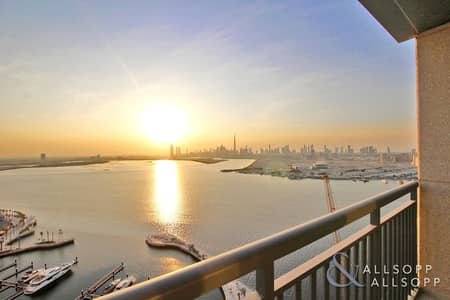 3 Bedroom Apartment for Rent in The Lagoons, Dubai - Incredible Skyline & Harbour View | 3 Beds