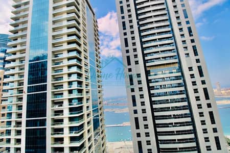 2 Bedroom Apartment for Rent in Dubai Marina, Dubai - Sea View   laundry and Storage   Higher Floor  Equipped Kitchen