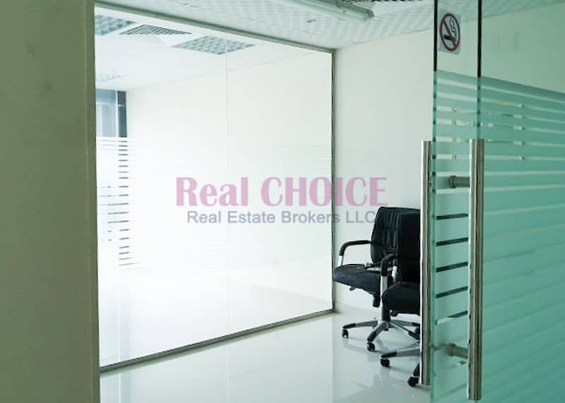 2 Fitted Office With 4 Partition Partial Lake View