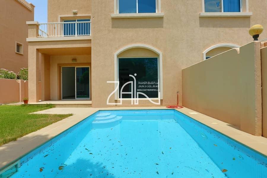 Exclusive!  Corner Single Row 5 BR Villa with Pool