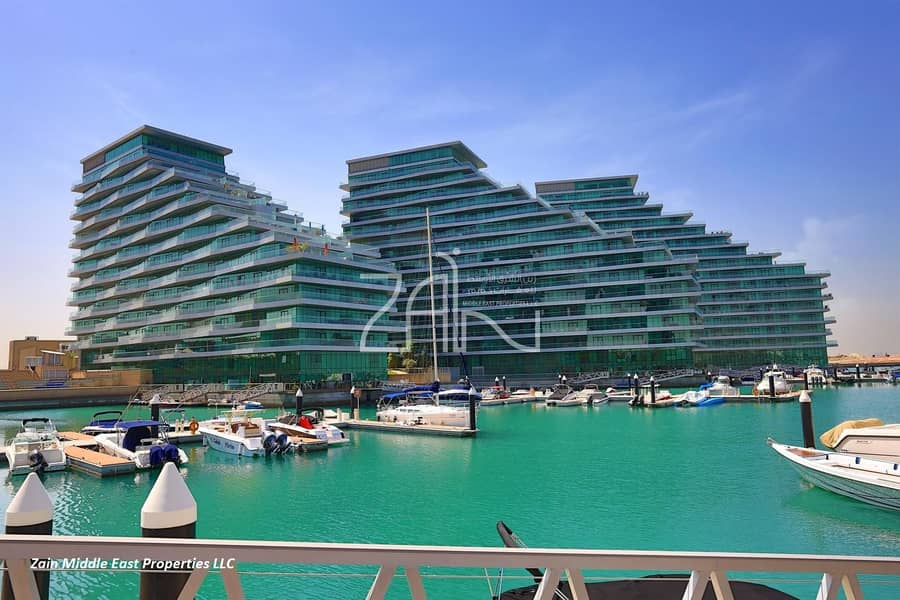 Sea View 2 BR Apt with Balcony Well Maintained