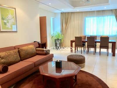 شقة فندقية 2 غرفة نوم للايجار في دبي مارينا، دبي - Spacious 2br plus maid hotel apartment in Marina