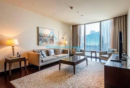 2 Bedroom Flat for Rent in Downtown Dubai, Dubai - EMAAR FURNISHED 2 BR + STUDY IN BURJ KHALIFA