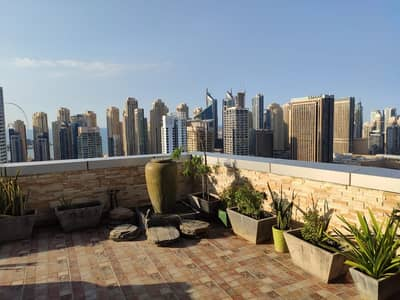 4 Bedroom Penthouse for Sale in Jumeirah Lake Towers (JLT), Dubai - Penthouse For Sale | 4-BR+ Maids + Laundry room| with Marina - JBR - SZR View
