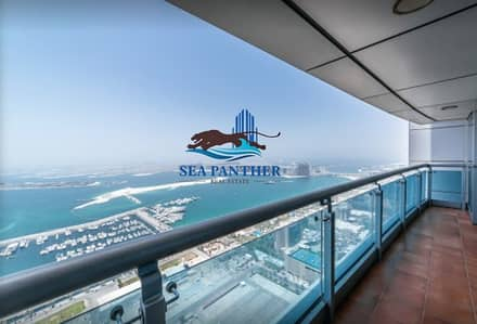 2 Bedroom Apartment for Rent in Dubai Marina, Dubai - Exclusive 2 Bd Full sea view with kitchen equipped