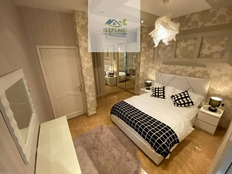 Full furnished  2 bedrooms  Maids room