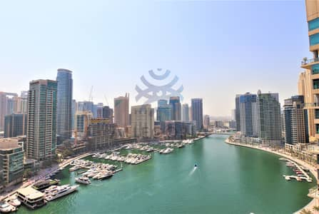 1 Bedroom Apartment for Rent in Dubai Marina, Dubai - 1 Bed on High Floor with Full Marina View