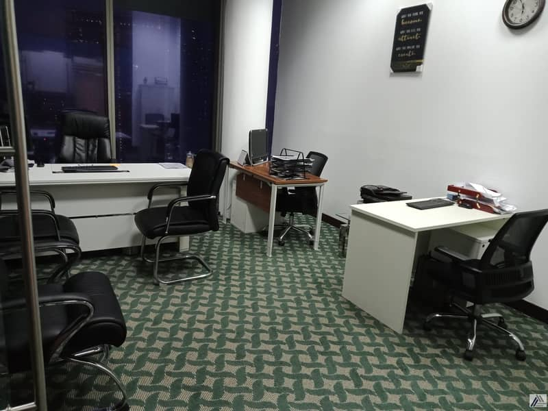 2 Fully Furnished Serviced Independent Offices in Beautiful Near Land Mark Building one minute walk away from DIFC Metro