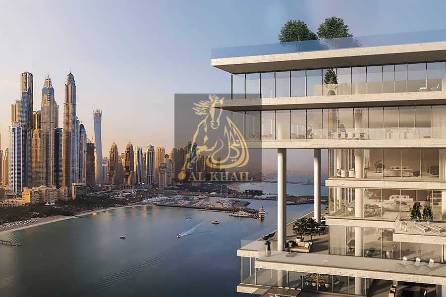 Upscale Triplex 5BR Sky Penthouse in Palm Jumeirah | Perfect Location with Stunning Sea Views