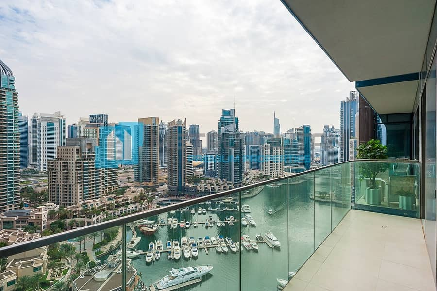 Exclusive 1BR | Full Marina View | Vacant