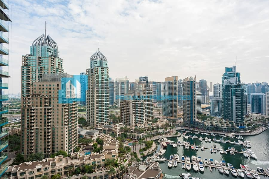 14 Exclusive 1BR | Full Marina View | Vacant
