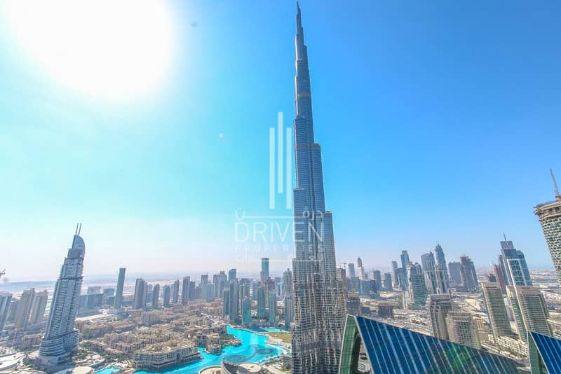 2 Full Burj Khalifa View High Flr 3BR 06 Unit
