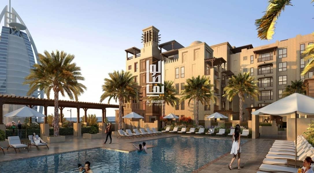 2 Burj Al Arab Amazing view Madinat Jumeirah Living..