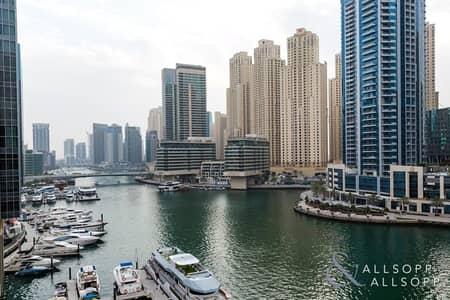 2 Bedroom Flat for Rent in Dubai Marina, Dubai - 2 Bed + Study | Furnished | Marina Views