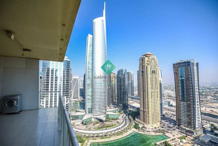 2 Bedroom Apartment for Rent in Jumeirah Lake Towers (JLT), Dubai - Amazing 2 BR|Parking|Lake View Tower|JLT