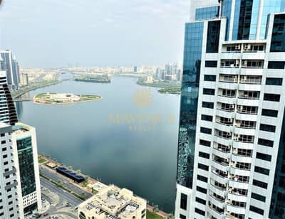 3 Bedroom Apartment for Rent in Al Majaz, Sharjah - Lavish 3BR | Full Sea View | 12 Cheques  | Gym + Pool