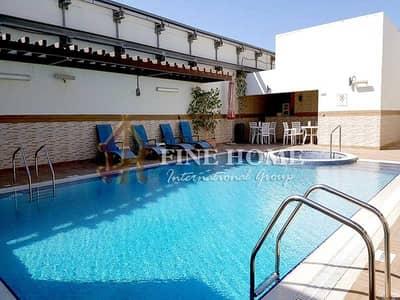 شقة 1 غرفة نوم للايجار في شارع حمدان، أبوظبي - Outstandingly Spacious 1 BR Apartment in Hamdan St!