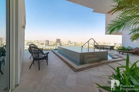 فلیٹ 2 غرفة نوم للايجار في قرية جميرا الدائرية، دبي - Private Pool | High Floor | Huge Terrace