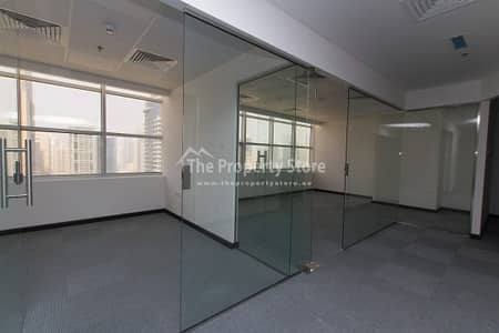 Office for Rent in Jumeirah Lake Towers (JLT), Dubai - Well planned Fit-Out | Glass Partitioned