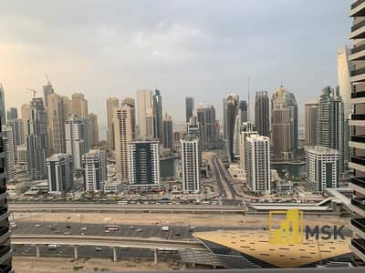 1 Bedroom Apartment for Rent in Jumeirah Lake Towers (JLT), Dubai - On High Floor | Chiller Free | 1 Bed -Semi Furnished | Green Lakes S2