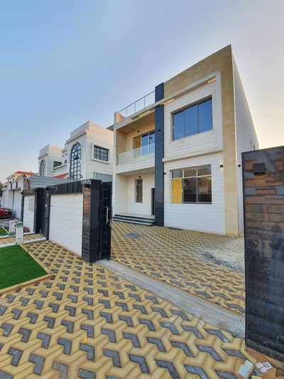5 Bedroom Villa for Sale in Al Zahraa, Ajman - For sale villa stone modern design directly from the owner without down payment