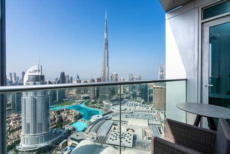 4 Bedroom Penthouse for Rent in Downtown Dubai, Dubai - Impeccable 4-Bed Duplex|Burj & Fountain view