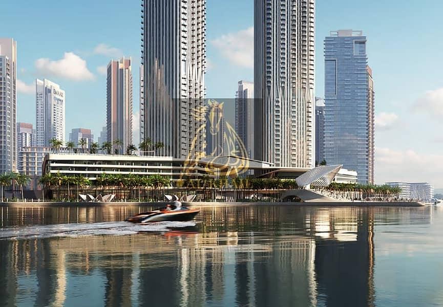 11 Superb Waterfront 3BR Penthouse for sale in Dubai Creek Harbour | 3 Years Post Handover | Iconic Burj Khalifa Views!