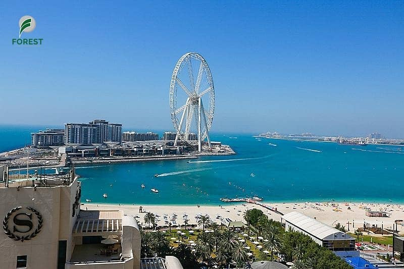 18 Full Sea View and Dubai Eye 1BR Vacant Unfurnished