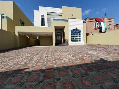 6 Bedroom Villa for Sale in Al Mowaihat, Ajman - For sale European villa in exchange for schools a large building area and a negotiable price