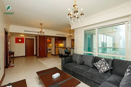 2 Bedroom Apartment for Sale in Dubai Marina, Dubai - Vacant 2 BR + Study Room with Partial Marina view