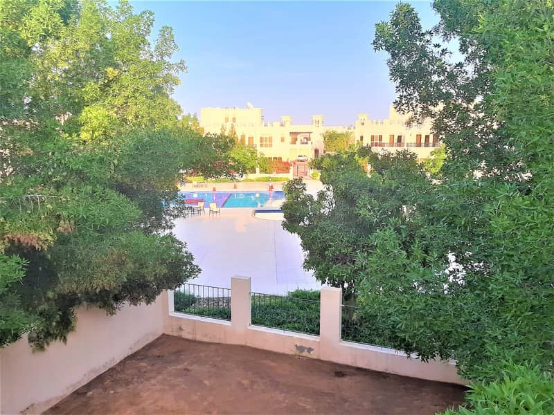 VACANT 3 BDR TH  Facing the Pool in Al Hamra Village;