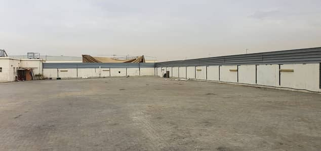 Industrial Land for Rent in Al Saja, Sharjah - 17,000 SqFt openland with builtin offices tolet in Al Sajja industrial area, Sharjah