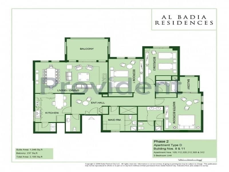 13 Best Deal|3BR+M |Al Badia Residences DFC